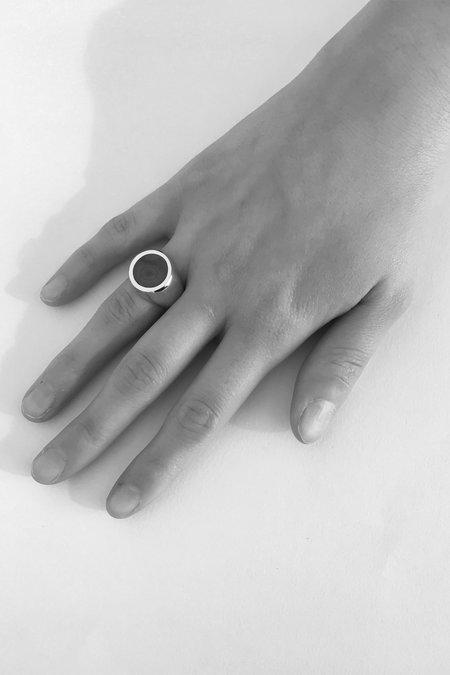 Legier Gold Malachite Signet Ring - Round