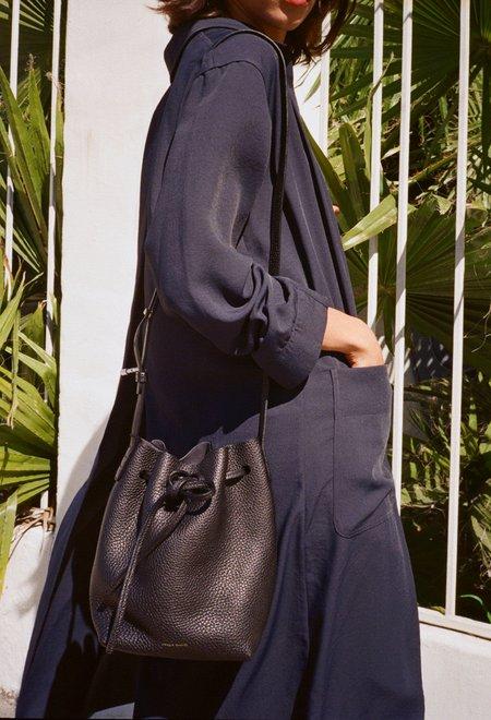 Mansur Gavriel Mini Black Tumble Bucket Bag