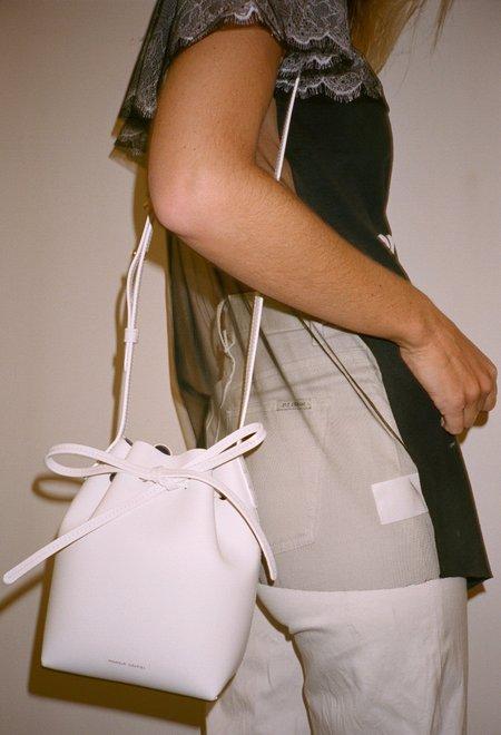 Mansur Gavriel Mini Mini Bucket Bag - White/Blu