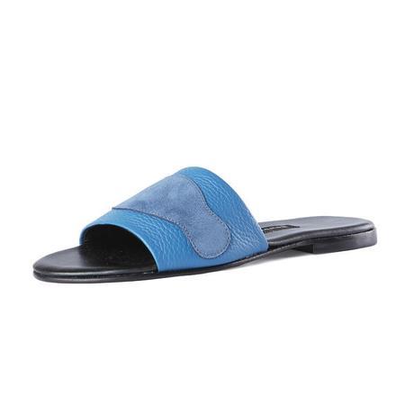 NEWBARK Roma II Blue Suede Slide
