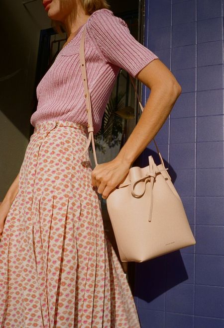 Mansur Gavriel Rosa Mini Bucket Bag