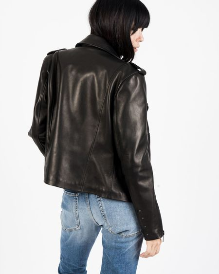 Snacku Rider Leather Jacket - Black