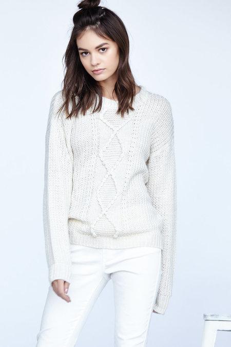 Callahan Nubby Cableknit Crewneck Sweater
