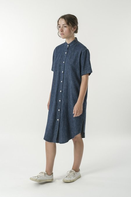 GOOD STUDIOS Hemp Denim Shirt Dress