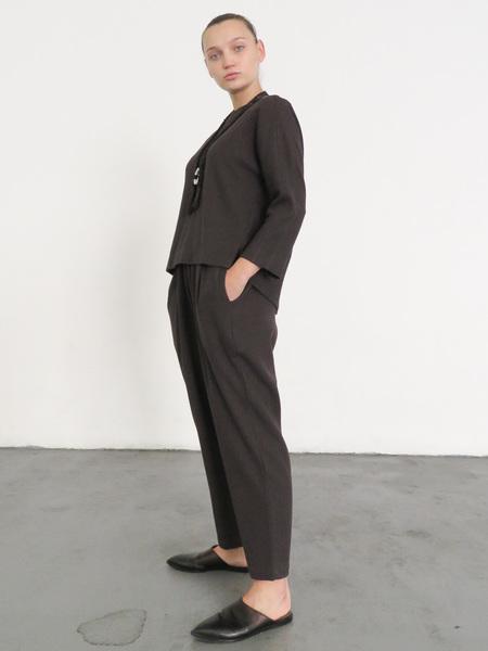 BLACK CRANE CARPENTER PANTS - PLUM
