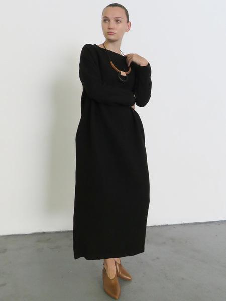 BLACK CRANE PENGUIN DRESS - BLACK