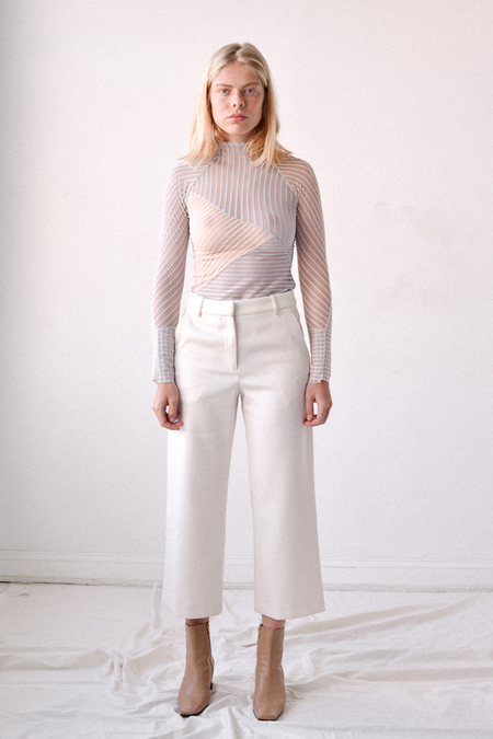 Nikki Chasin Gallery Cropped Trouser in Ivory