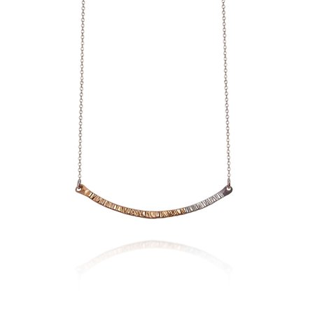 Strut Jewelry Fusion Small Bar Necklace