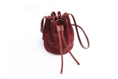 Primecut Rust Cowhide Bucket Bag