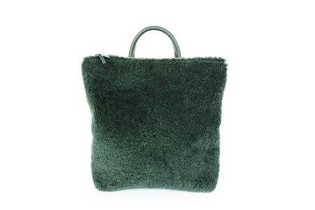 Primecut Green Sheepskin Backpack