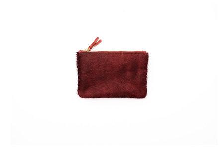 Primecut Rust Cowhide Zipper Wallet