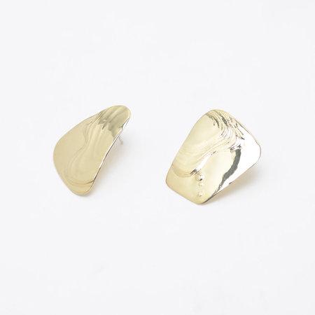 Leigh Miller Brass Splatter Earrings