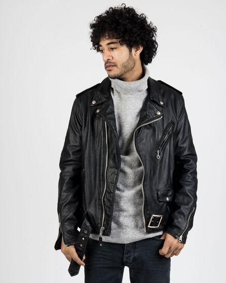 Schott NYC Vintage Cowhide Leather Motorcycle Jacket
