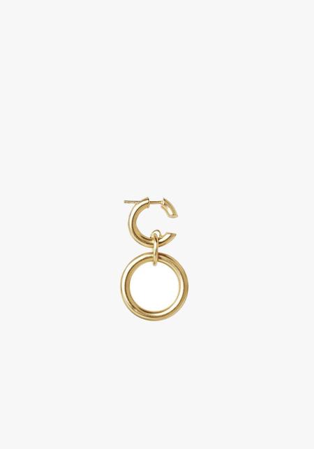 Maria Black Dogma Earring - Brushed Gold