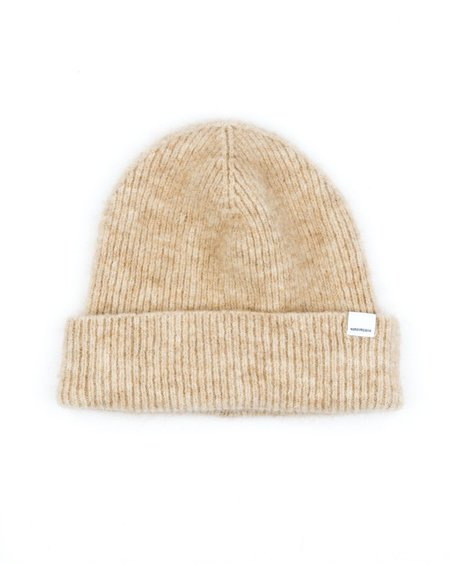 Norse Projects Martha Brushed Rib Beanie - Camel