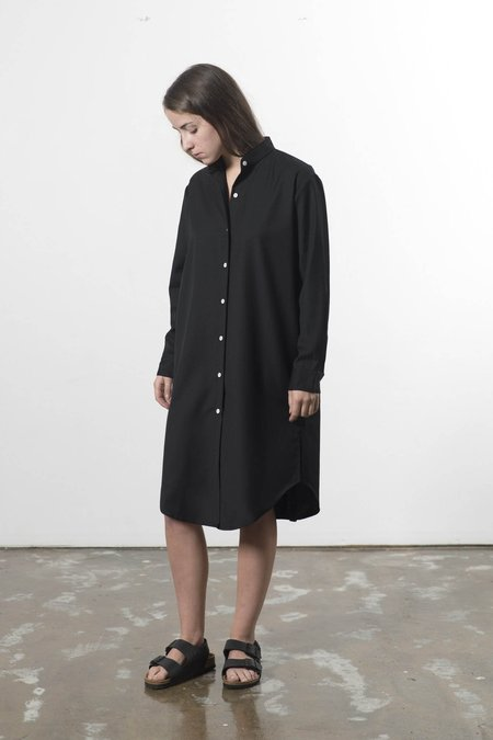 GOOD STUDIOS Australian Wool Mandarin Collar Shirtdress