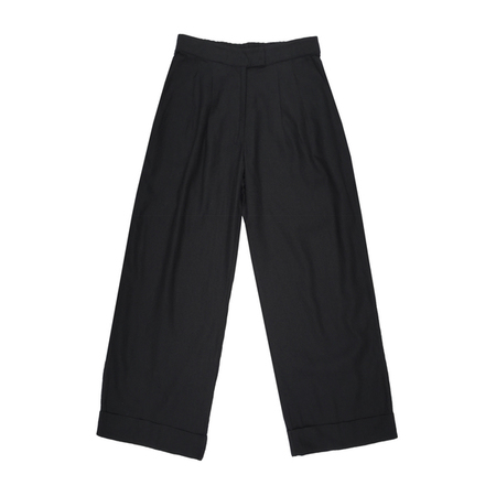 Ali Golden ROLL-CUFF PANT - BLACK