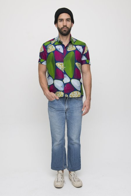 Osei-Duro Cotton Button Up Shirt - Waxprint Funktown