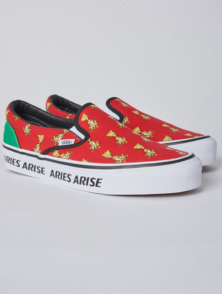 Vans X Aries Arise Red Slip-On - Red