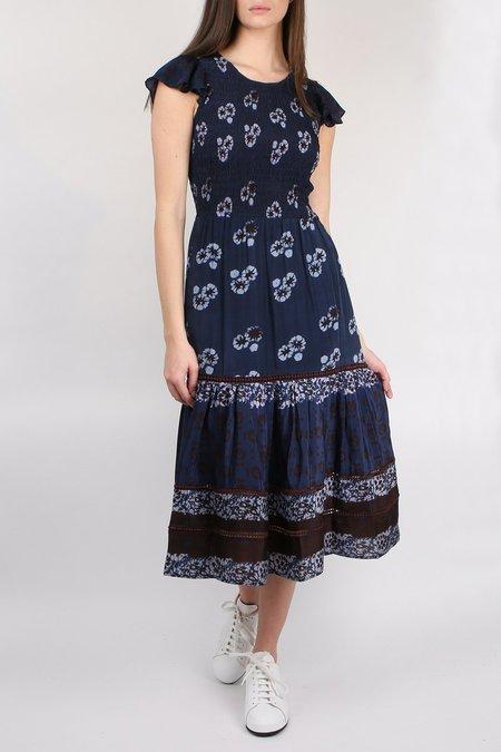 Sea NY Flutter Sleeve Midi Dress