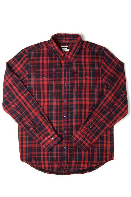 Bridge & Burn Winslow SHIRT - Navy Tartan