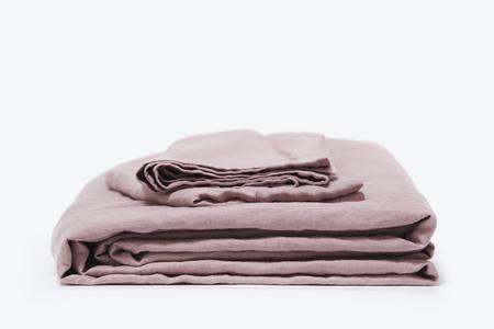 Morrow Soft Goods French Linen Duvet Set - King, Mauve