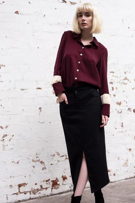 Lois Hazel Black Drift Skirt