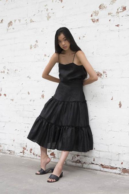 Lois Hazel Black Gather Skirt