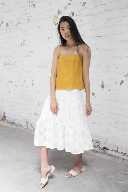 Lois Hazel Silk Gather Skirt