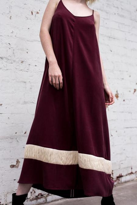 Lois Hazel Wine Drift Dress