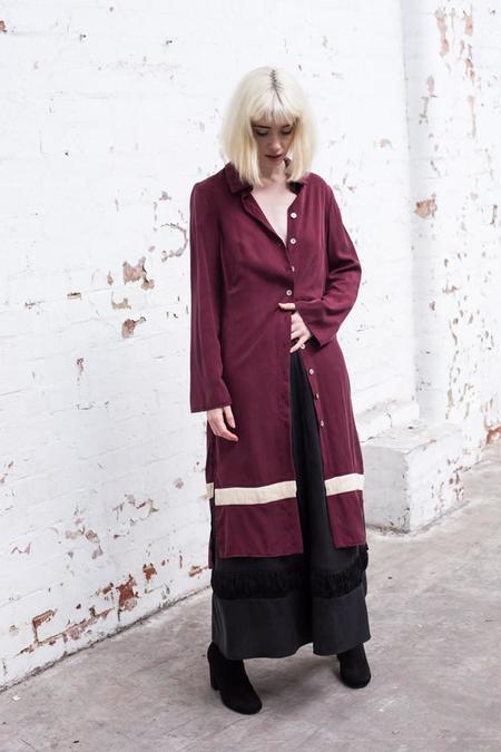 Lois Hazel Wine Drift Shirt Dress