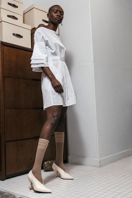 SILVAE Sola Shirt Dress - White