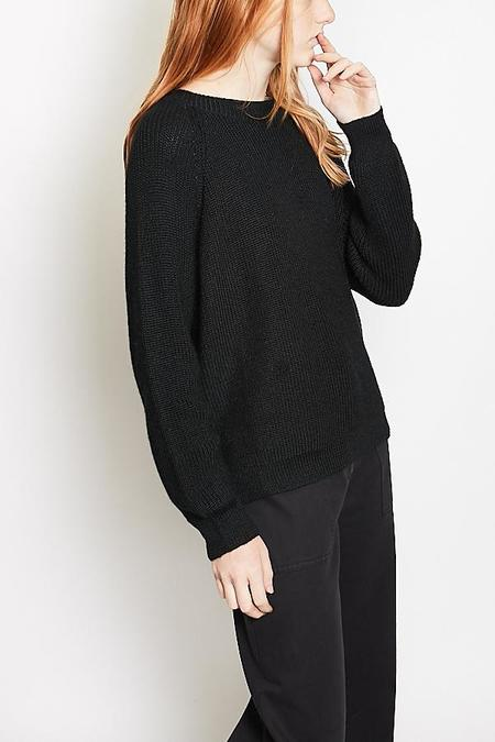 Ali Golden Chunky Pullover - Black
