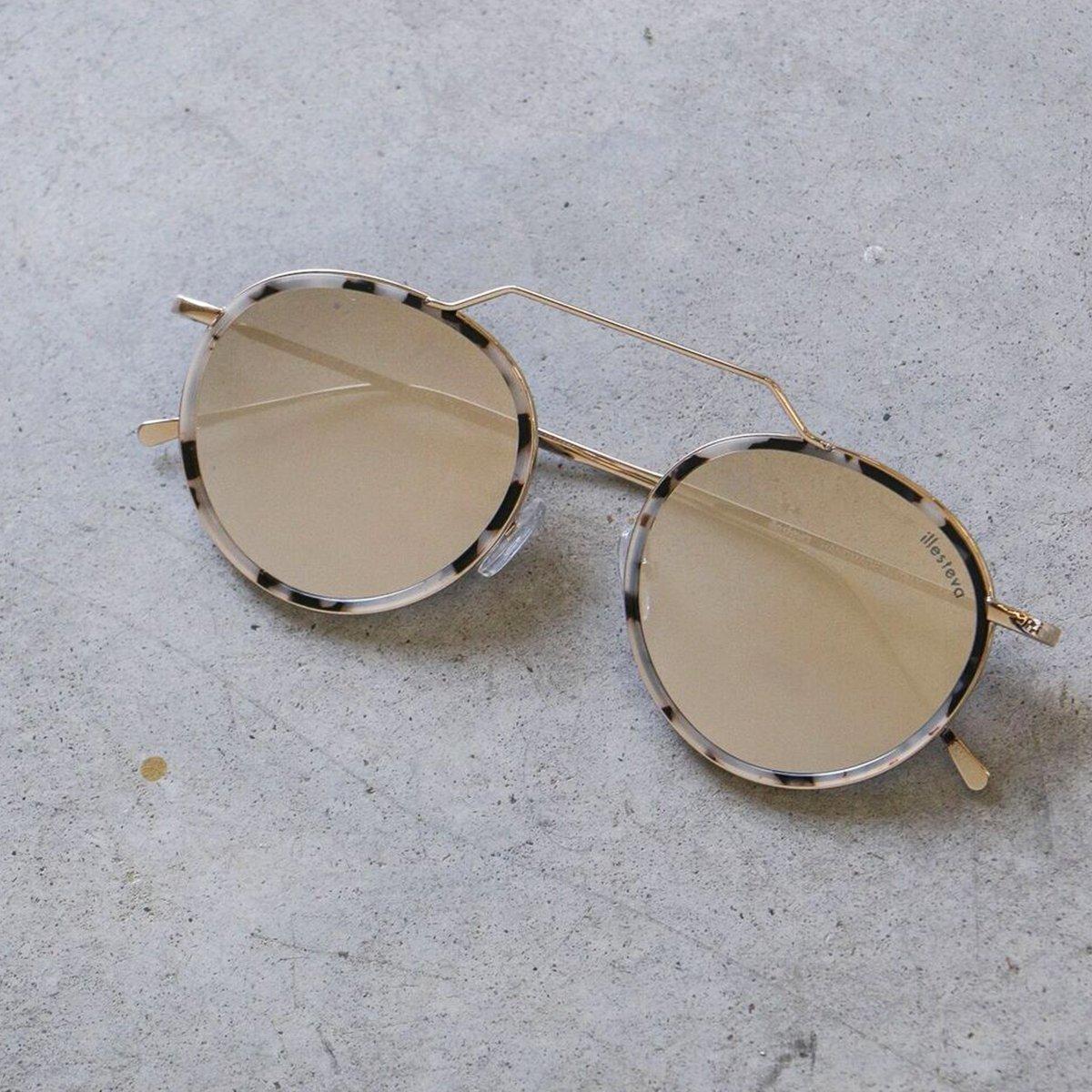 d871f0419b Illesteva Wynwood Ace Sunglasses in White Tortoise