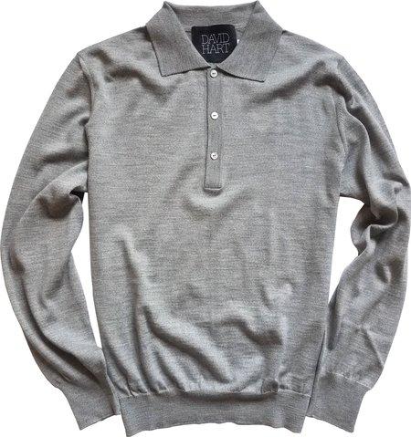 David Hart Grey Long Sleeve Polo