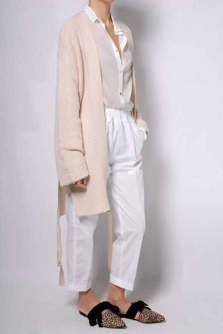 Giada Forte Oversized Knit Cardigan - Ivory