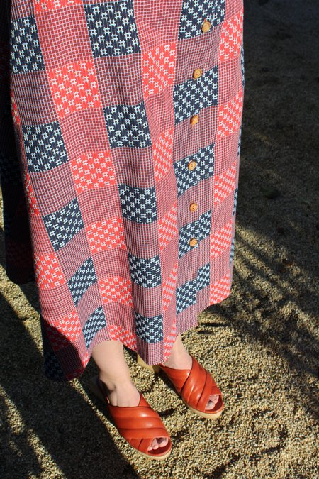 Heinui Circe Dress - Sashiko Checks
