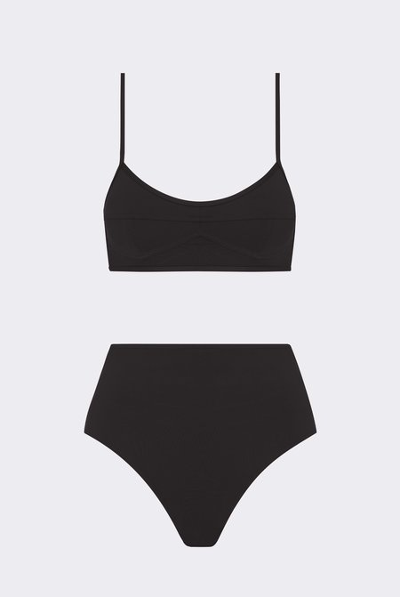 Her Line Suzi Two-Piece Set - Coal Black