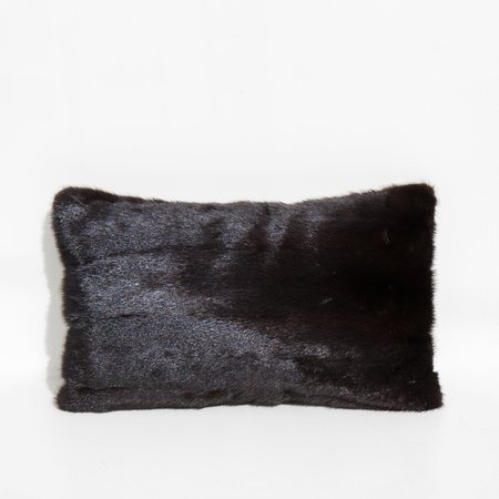 Found By Kindred Black Recycled Mink and Velvet Throw Pillow