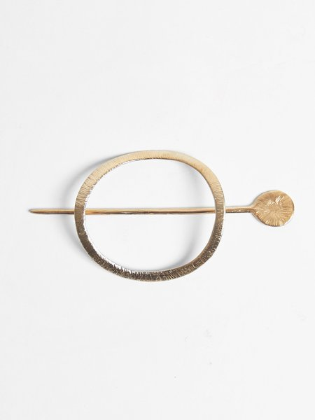 Nettie Kent Jewelry Halo Hairslide - Brass