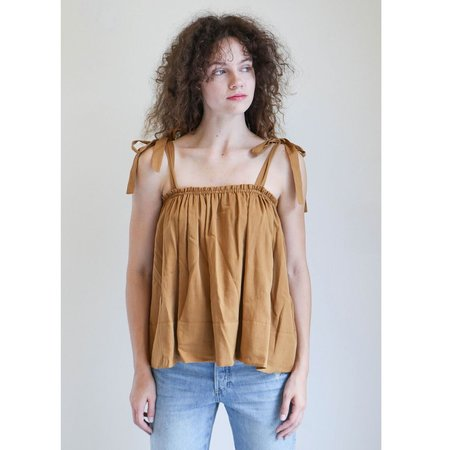 Loup Charmant Turen Tie Top in Camel