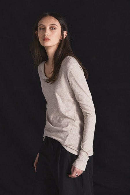 Kowtow Building Block Long Sleeve Top - Oatmeal