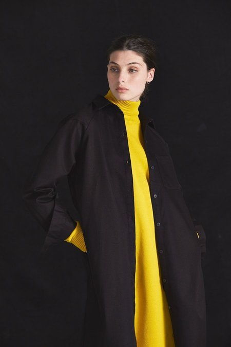 Kowtow Navigate Long Coat - Black