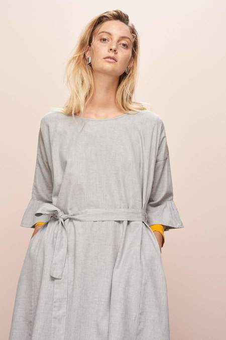 Kowtow Shutter Dress - Grey Melange