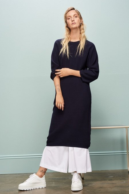 Kowtow Slow Pace Dress - Navy
