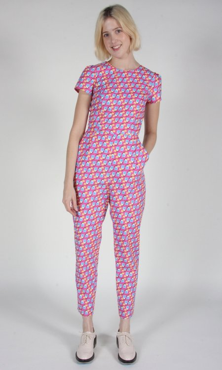 Birds of North America Gyrfalcon Jumpsuit - Pink Toucans
