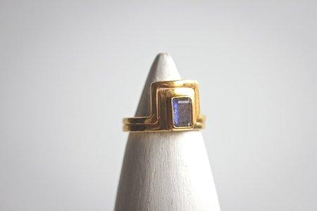 Zaleska Double Line Labradorite Ring