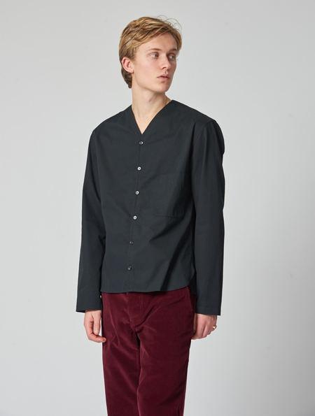 Lemaire V Neck Shirt - Black