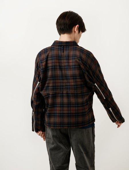 Phingerin Mens Zip Run Jacket - Plaid