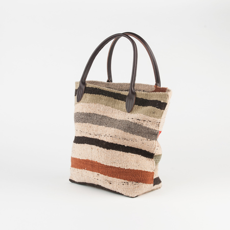 Chamula Blanket Tote in Autumn Wave
